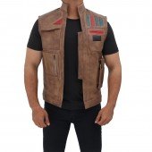 Brown Finn Leather Vest