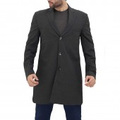 Dark Grey Wool Peacoat