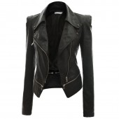 Black Leather Jacket Womens