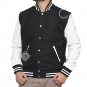 Black and White Letterman Jacket