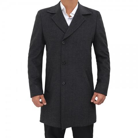Mens Black Overcoat