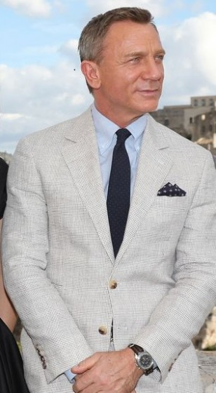 James Bond White Linen Suit