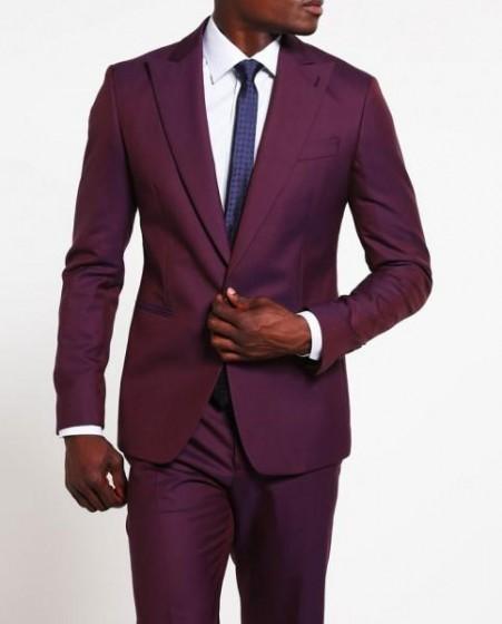 Mens Purple Suit