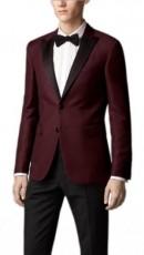 maroon prom tuxedo