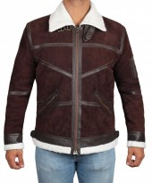 Men brown suede jacket