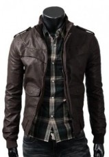 Dark Brown Slimfit Jacket