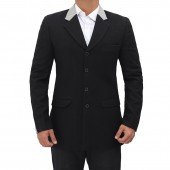 Four Button Mens Wool Coat